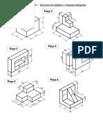 Exercícios de Desenho Técnico I - Técnico em Mecânica
