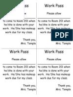Work Pass