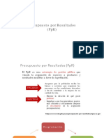 Presupuesto Por Resultados 1 (PpR)