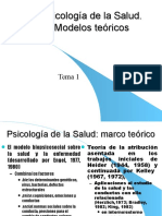 Psicologia de La Salud . Modelos (Tema 1)