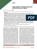An Abrupt Transformation of Phobic Behavior After a Post-Retrieval Amnesic Agent