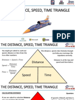 distance speed time triangle
