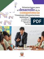 Orientaciones Para El Desarrollo de La Competencia Construye Interpretaciones