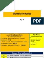 Electricity I Yr 7 Ks 3