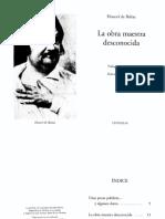 Balzac - La Obra Maestra Desconocida