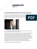 An Interview With Dr Tim Sandle - March 2019