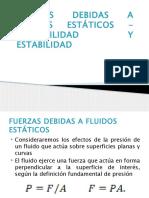 Fuerzas Debidas a Fluidos Estáticos- Flotabilidad y Estabilidad