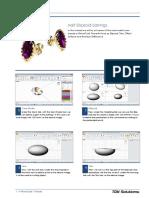 RhinoGold 4.0 - Level 1 - Tutorial 026P - Half Ellipsoid Earrings