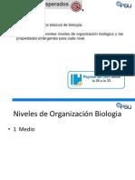 Clase 1 Conceptos de Biología y Niveles de Organización 1 Medio