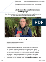 El Debut Literario de Un Profesor de Princeton Con Acento Gallego