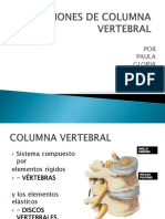 Lesiones de Columna Vertebral