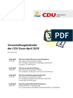 Veranstaltungskalender April 2019