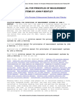 Solution Manual for Principles of Measurement Systems by John p Bentley
