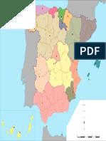Mapa Politico de Espana Mudo