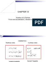 Chapter 13 Kinetics of Particle (Force and Acceleration)