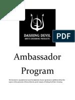 Dashing Devil Ambassador Program Information