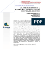 Manufatura Enxuta e Metodologia 6sigma Em Industria Alimentos