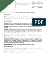 Sc-p-03 Para Investigacion de Incidentes Ambientales