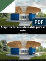 César Urbano Taylor - Arquitectura Sustentable Para El Arte