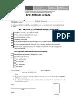 Declaración Jurada de Regimen Pensionario - 2016
