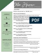 chloe herman resume for ctr