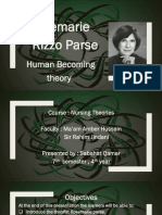 Parse's Thoery by Sabahat
