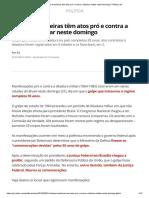 Cidades Brasileiras Têm Atos Pró e Contra a Ditadura Militar Neste Domingo _ Política _ G1