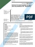 NBR 8417 - 1999 - Sistemas de ramais prediais de água - Tubos de polietileno PE - Requisitos.pdf