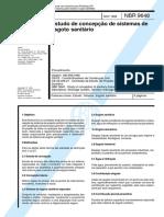 NBR 9648 - 1986 - Estudo de concepção de sistemas de esgoto sanitário.pdf