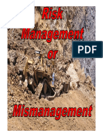7 Risk Management or Mismanagement