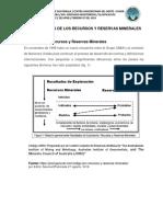 Clasificación de Los Recursos y Reservas Minerales