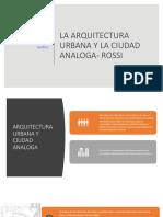 La Arquitectura Urbana y La Ciudad Analoga- Rossi