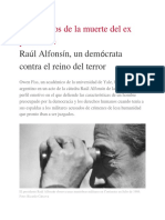 Raúl Alfonsín, Un Demócrata Contra El Reino Del Terror - 28-03-2019 - Clarín