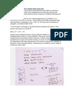 Peso Molecular o Masa Molecular