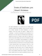 Evola frente al fatalismo, por Eduard Alcántara | Biblioteca Evoliana