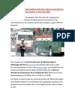 AUMENTA LA CONTAMINACIÓN DEL AIRE EN DISTRITOS DEL NORTE Y ESTE DE LIMA.docx