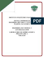 REPORTE DE PRÁCTICA 1 DE QUÍMICA BÁSICA