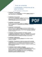 Posibilidades y limitaciones de las TIC en procesos formativos