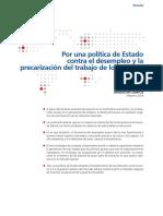 Por Una Politica de Estado Contra El Desempleo_Brasil