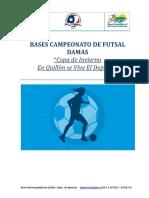 Bases Campeonato de Futsal Damas