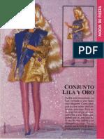 Conjunto Lila y Oro Barbie