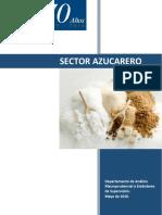 Estudio Del Sector Azucarero, Referido a Mayo 2016