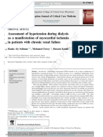 Assessment of Hypotension During Dialysis as a Manifestation of Myocardial Ischemia in Patients With Chronic Renal Failure