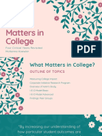 what matters in college   2