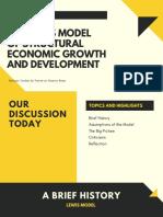 Report 1 - Lewis Model
