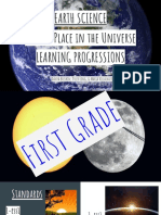 earth science earths place in the universe learning progressions