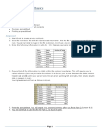 Excel 1 2 Assignment