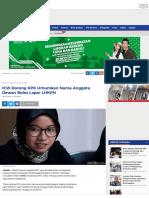 ICW Dorong KPK Umumkan Nama Anggota Dewan Bolos Lapor LHKPN