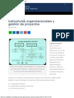 Las Estructuras Organizacionales y La Gesti n de Proyectos