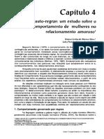 Regras e Auto Regras Um Estudo Sobre Mulheres e Relacionamento Amoroso Volume 18 - GUILHARDI, J. H.; AGUIRRE, N. C. (Org.). Sobre Comportamento e Cognição.-55-70